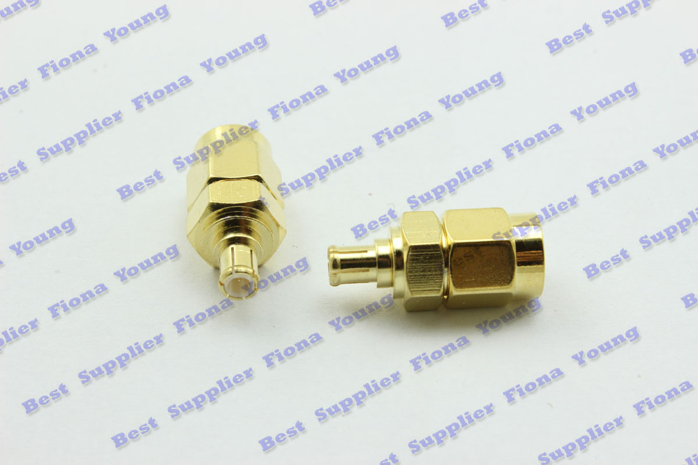 50 pcs\lot Straight Goldplated SMA Male Plug to MCX Male Plug RF Coaxial Adapter RF Connector Free Shipping<br><br>Aliexpress