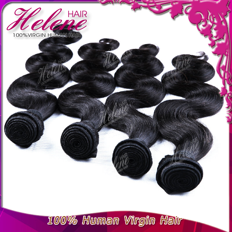 Cheapest Hair Brazilian Virgin Hair extension 1 pcs/Lot Brazilian Virgin Hair Body Wave, Unprocessed Human Hair Weave bundles