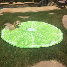 2016 Creative New Lemon Round Beach Towel Circle Picnic Towel Fruit Printed Microfiber 150CM toalha de praia toallas(China (Mainland))