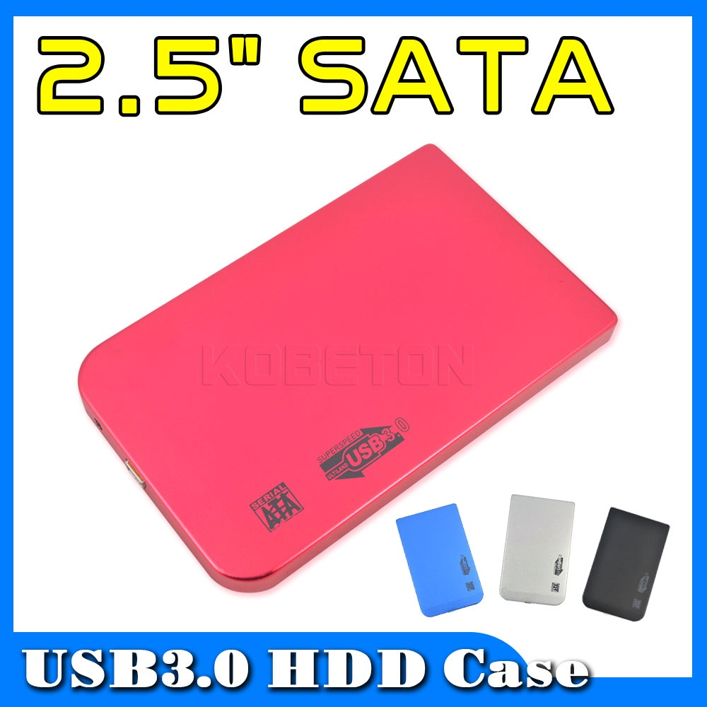 """Four Colors USB 3.0 to SATA 2.5"""" External HD Hard Disk Drive Hdd Case Enclosure for Laptop Computer Plug and Play(China (Mainland))"""