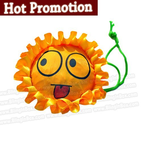 promotion! only 10pcs/lot folding foldable sunflower shopping bag,many colors available Eco-friendly handle Bag+free shipping