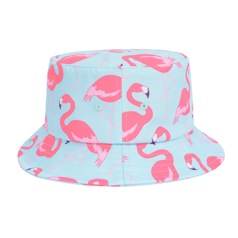 Bucket Hat Pink Pink Flamingos Bucket Hat