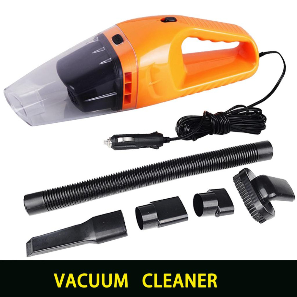 Portable Car Vacuum Cleaner Wet and Dry Dual Use With Power 120W 12V 5 Meters of Cable, Super Absorb Car Waste, Freeshipping(China (Mainland))
