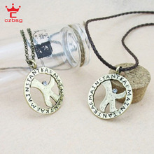 Free Shipping Fashion New 2013-2014  Kpop Style Vintage Women Men Dream High Luck Star Pendant K Necklace Jewelry 57-6