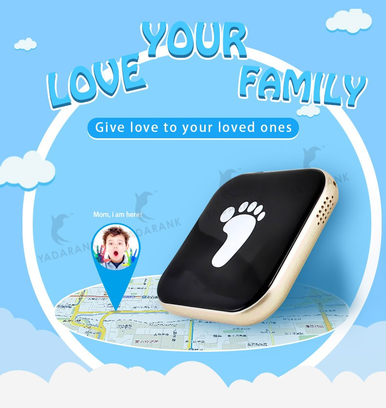 Free Shipping WIFI tracking Mini GPS Tracker Slim Locator with SOS Button GSM GPS AGPS LBS locator for kids pet older