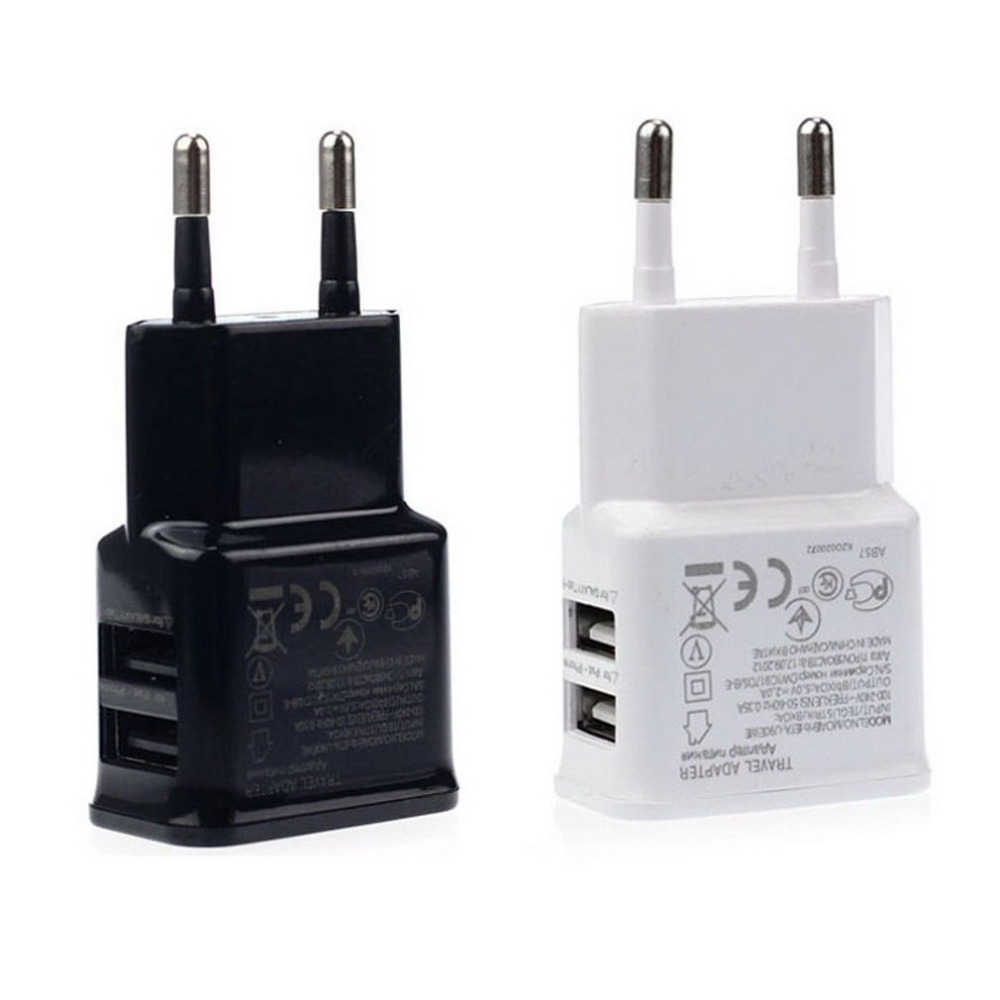 New Universal Dual USB EU plug 5V 2A Wall Travel Power Charger Adapter for iPhone5 iPhone7 6 6S plus HTC SAMSUNG Galaxy S6(China (Mainland))
