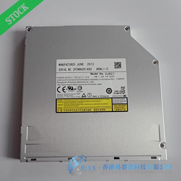 Free shipping for 100% Brand New SATA 9.5mm Ultral slim Laptop optical drive UJ8C7 dvd burner(China (Mainland))
