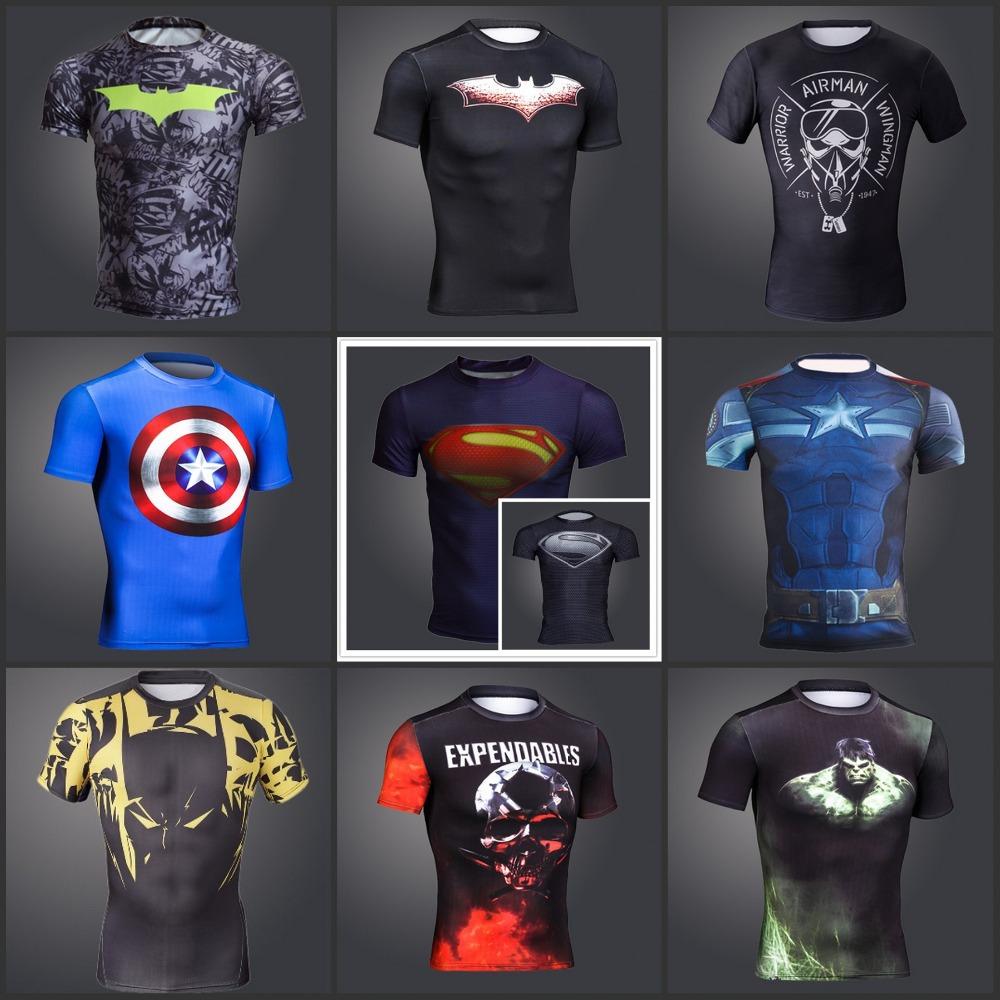 Compression T-Shirts Batman Gym T Shirt Men Fitness Shirts - free ...