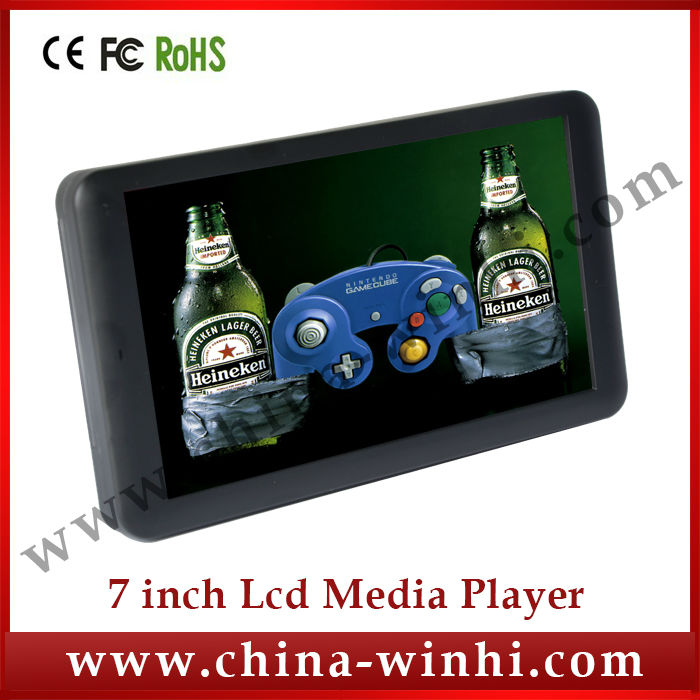 7 inch HD supermarket plastic shell USB SD Auto play advertising media player Manufacturer Speedy Delivery(China (Mainland))