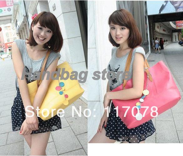 3pcs/lot Women's latest shoulder bag designer handbag Tote Bag 5 Colors bags handbags fashion 2012 drop shipping 5678(China (Mainland))