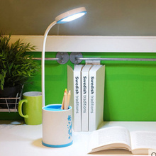 Multi-function LED Desk lamp rechargeable Eye protection study desk reading lamp 3 levels dimmer table lamp with pen container(China (Mainland))
