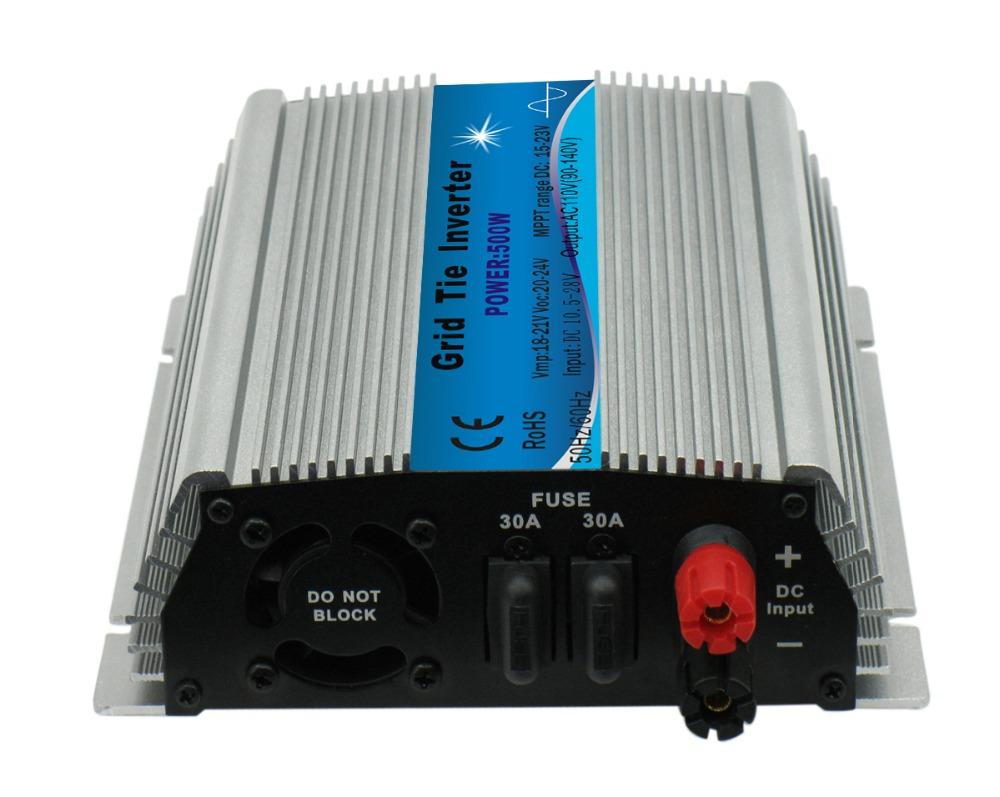 CE approved mppt 500W 18V micro grid tie inverter 10.5-28V DC ,120V or 230VAC ,500WATT Solar Power on grid tie inverter(China (Mainland))