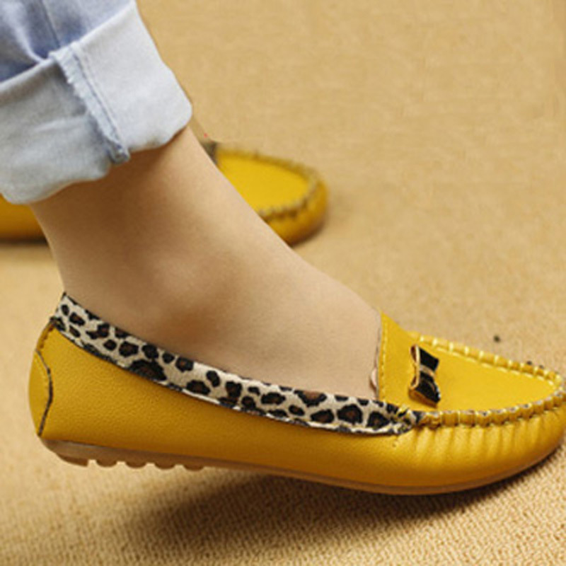 Spring and Autumn Flats for Women Flat heel Shoes Fashion Leopard Flats Women Shoes Casual Soft Comfortable Free Shipping(China (Mainland))