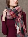 Za Winter Scarf 2016 Luxury Brand Tartan Cashmere Scarf Women Wool Plaid Blanket Scarf Pashmina Wrap