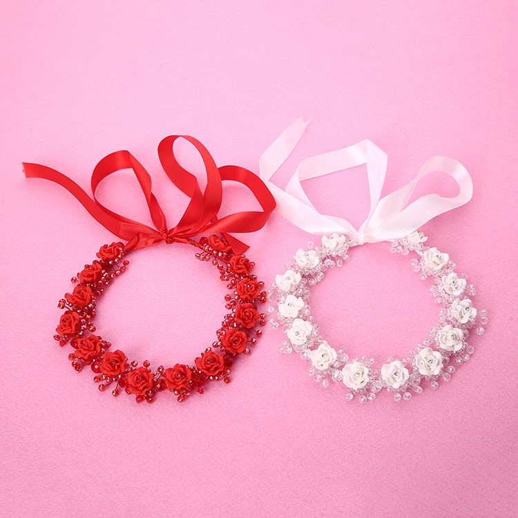 Wedding Decoration Gifts Women Ladies Flowers Headband Bridal Jewelry Promotional Exquisite Gifts Fashion Hair Accessories PL(China (Mainland))