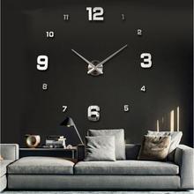 2016 New Wall Clock Clocks Watch Horloge Murale Diy 3d Acrylic Mirror Large Home Quartz Circular Needle Modern Free Shipping(China (Mainland))