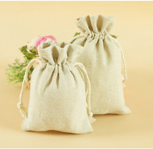 Trousse Scolaire Stylo Solid Sack Factory Wholesale New Linen Cotton Beam Drawstring Bag Containing Folk Style Jewelry Bags(China (Mainland))