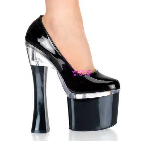 2014 fashion high heel shoes thick heel single shoes queen of autumn shoes sexy clubbing high heels women's pumps(China (Mainland))