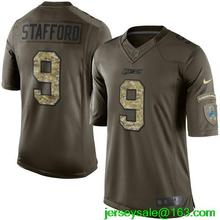 2016 Men Detroit Lions #9 MATTHEW STAFFORD Green Salute To Service Limited(China (Mainland))