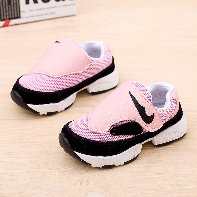 2015 new spring autumn children sheos boys fashion sneakers girls casual kids sport shoes patch mesh fabric star sneakers 60(China (Mainland))