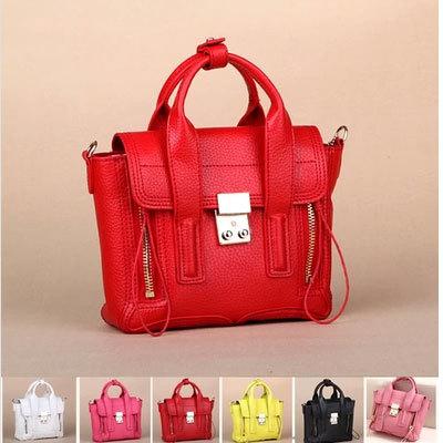 Fashion women wallet bags 3.1 Paris catwalk mini smiley little monster double zipper motorcycle genuine leather handbags 036(China (Mainland))