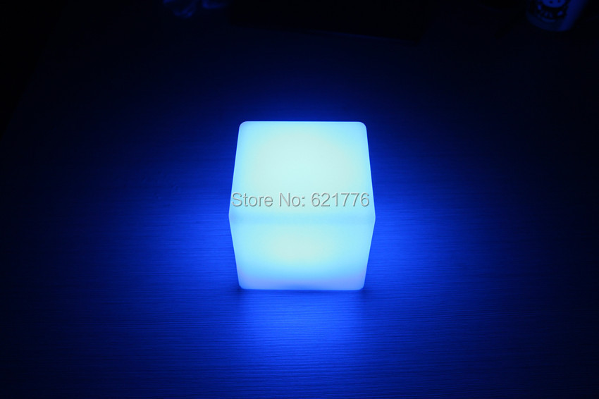 6pcs/lot 10CM Magic Dice LED square night light glowing decorative led cube lumineux table light for table lamp/room mood light(China (Mainland))