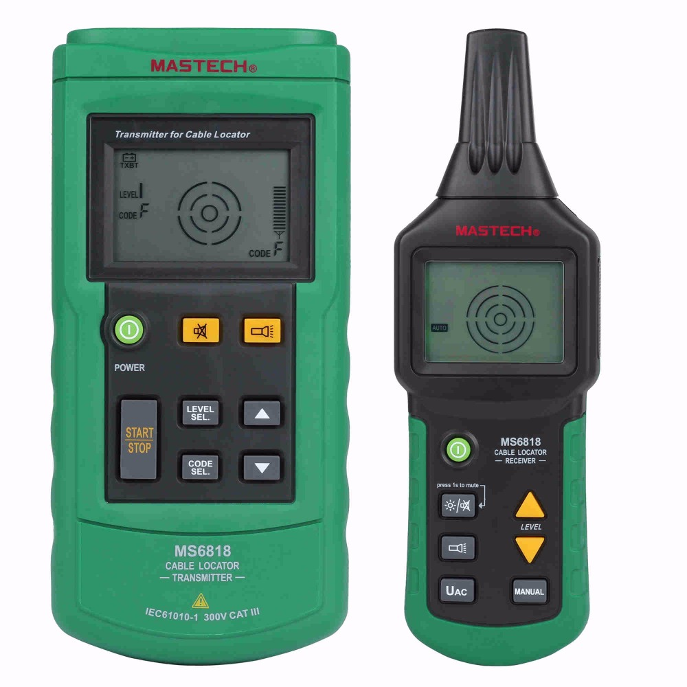 Mastech MS6818 Wire Cable Tracker Metal Pipe Locator Detector Tester Meter AC/DC 12~400V<br><br>Aliexpress