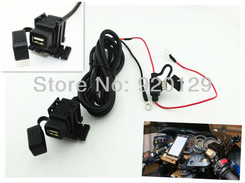 Weatherproof Motorcycle USB Port Cell phone GPS tablet PC Charger For Honda(China (Mainland))