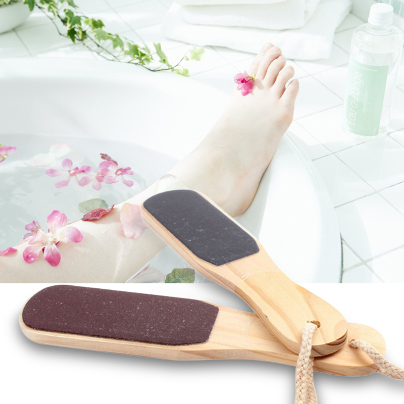Free Shipping Double-sided Foot File Care Dead Skin Callus Remover Pedicure Tool Wood(China (Mainland))