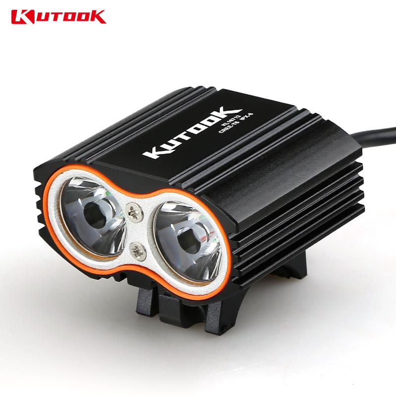 KUTOOK Bicycle Light Led Bike Light USB Interface Flashlight T6 & L2 Wick 4 Modes Water Resistant Cycling Light(China (Mainland))