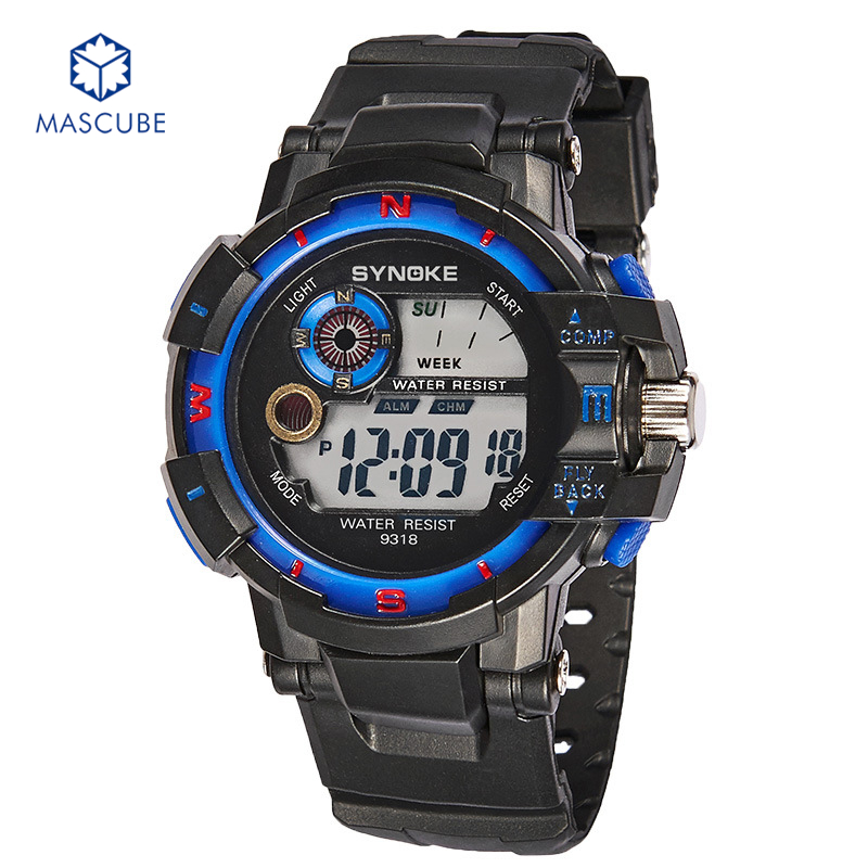 [MASCUBE]Men's Outdoor Sports Electronic Watch Luminous Alarm Calendar Luminous Alarm Function Teens Casual Wristwatches(China (Mainland))