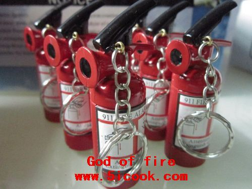 20 piece / lot,Free shipping $1.72 piece Key chain lighter novelty, Fire extinguisher lighter gas(China (Mainland))