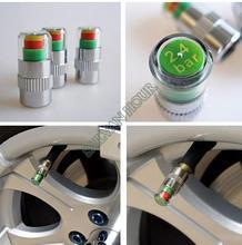 4PCS Car Auto Tire Pressure Monitor Valves Stem Caps Sensor Indicator Eye Alert diagnostic tool neumaticos detector accessories(China (Mainland))