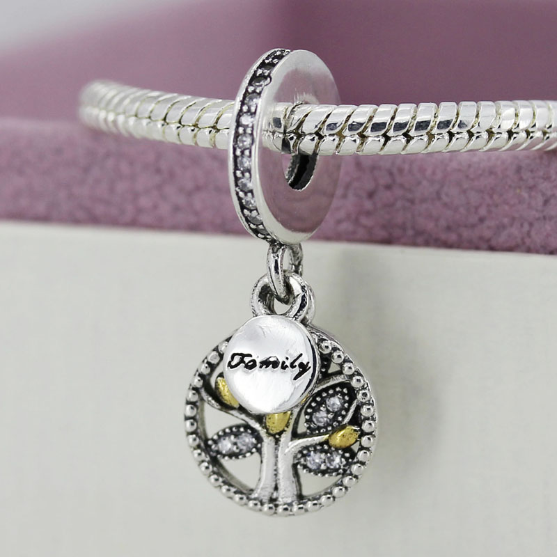Authentic 925 Sterling Sliver Bead Charm Crystal Life Tree With Family Pendant Beads Fit Pandora Bracelet Bangle Jewelry YW20090<br><br>Aliexpress