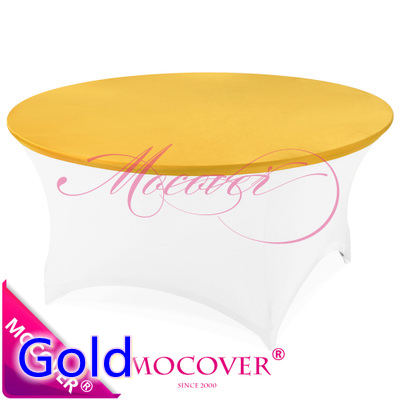 Gold colour cheap lycra top cover for spandex table linen tablecloth wedding banquet and party decoration wholesale on sale(China (Mainland))