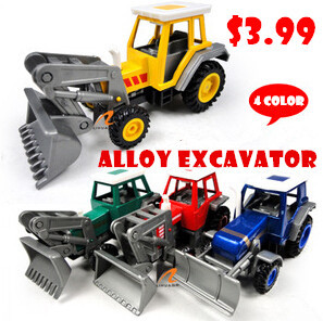 Alloy Excavator Car Toys for Children Engineer Scale Models Car Promotion New Arrival Hot Sale Top Fashion Special Offer(China (Mainland))