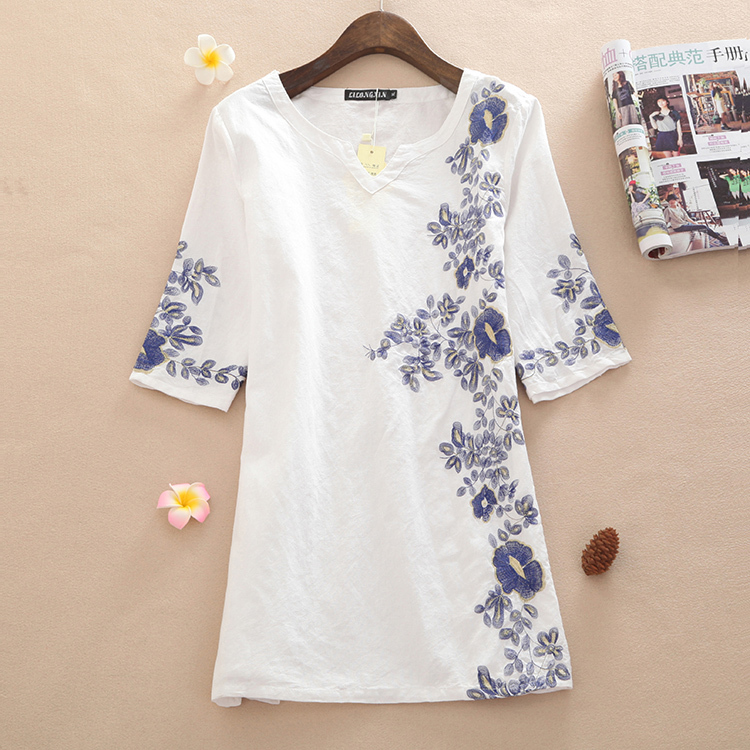 Summer new literary linen women s clothing