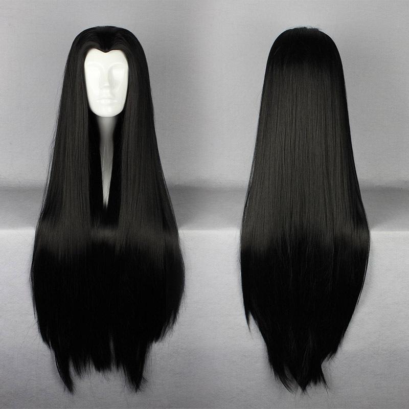 Synthetic Hair New fashion 90cm Long ONE PIECE-Boa Hankokku Costume male beauty tip Black Cosplay Costume Wig(China (Mainland))