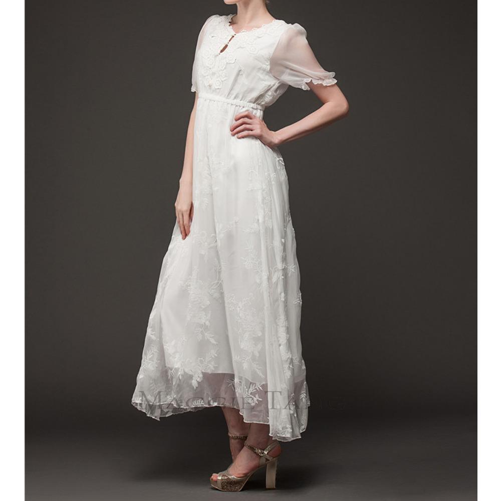 Mands Dresses For A Wedding : Maggie tang vintage white medieval renaissance chemise