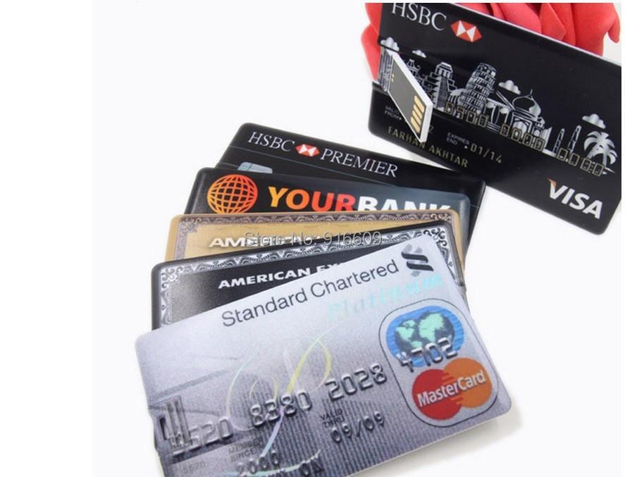 W09 wholesale Hot Sale Cartoon Cute Credit Card Enough 4GB 8GB 16GB 32GB USB Flash Drive Memory Stick Pen Drive Flash Card Key(China (Mainland))