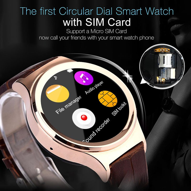 Smart Watch S3 Clock with SIM TF Card Compatible for Apple iPhone Samsung Android Phone Bluetooth Smartwatch Heart Rate Monitor<br><br>Aliexpress