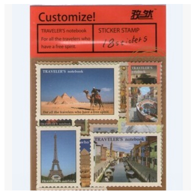 Retro Stamps Stickers (18 pcs/bag)