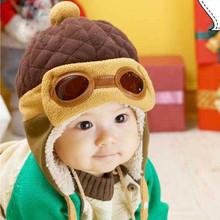 Pilot  Earflap Fleecy Cap Winter Beanie Baby Kids Boy Girl Warm Hats(China (Mainland))