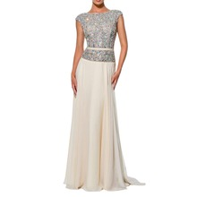 Cap Sleeves abendkleider crystal Louisvuigon Woman Rhinestone robe de soiree Long Prom Evening Dress OL102803(China (Mainland))