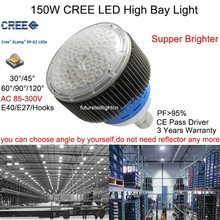 150W cree led high bay light use for industry facotry warehouse supermarkets 110v 277v 300v 150w cree led gas station lights(China (Mainland))