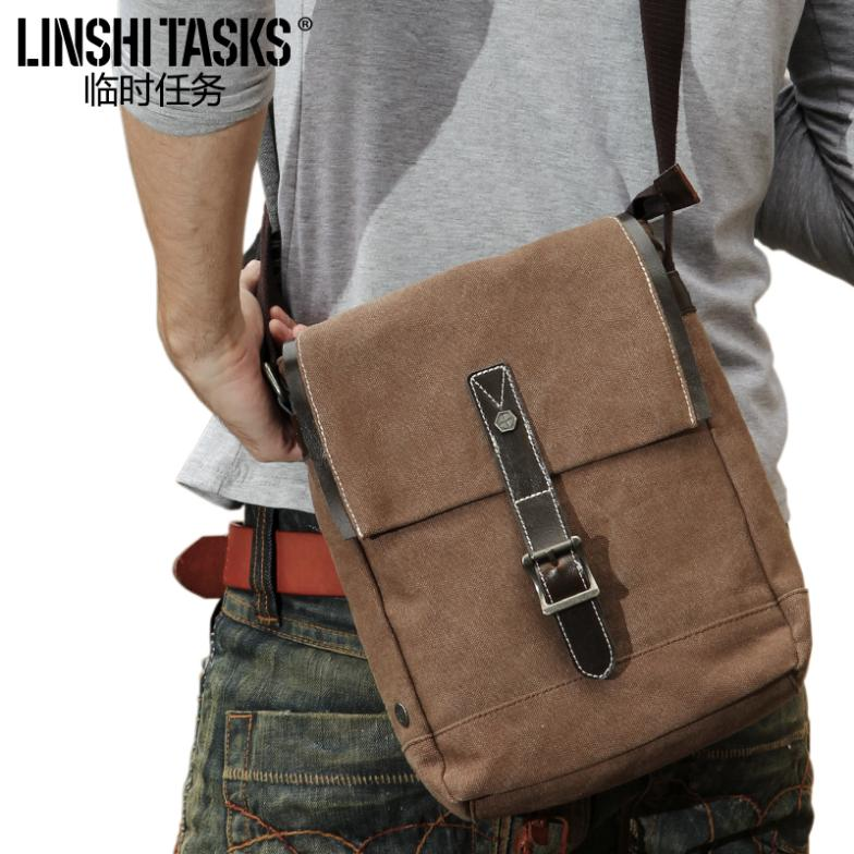 2015 new brand simple canvas bag man bag vintage shoulder and Messenger bags man  vertical small packet free shipping<br><br>Aliexpress