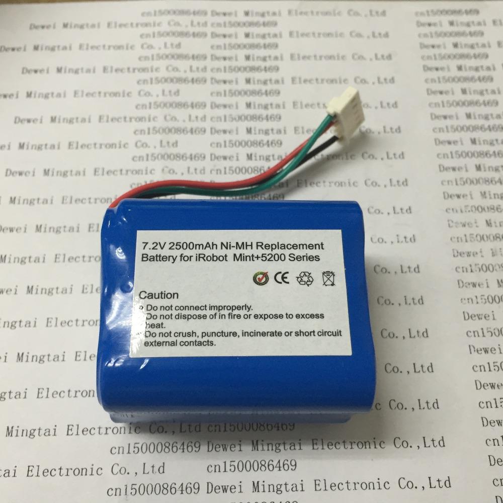 irobot Braava Mint 5200 5200C 5200B 7.2V 2500MAH(China (Mainland))