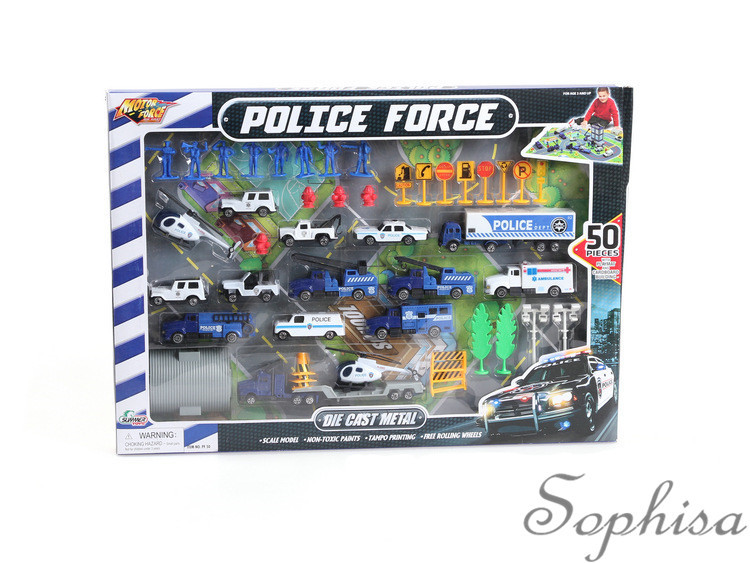 50 alloy police car model/Wholesale children's toys suit/Gifts for children/free shipping(China (Mainland))