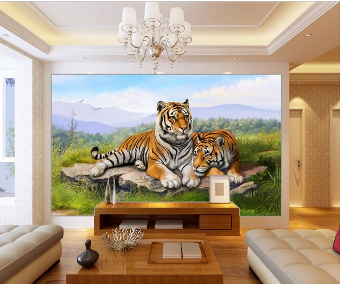 Compare prices on tiger wall murals online shopping buy for Custom mural cost