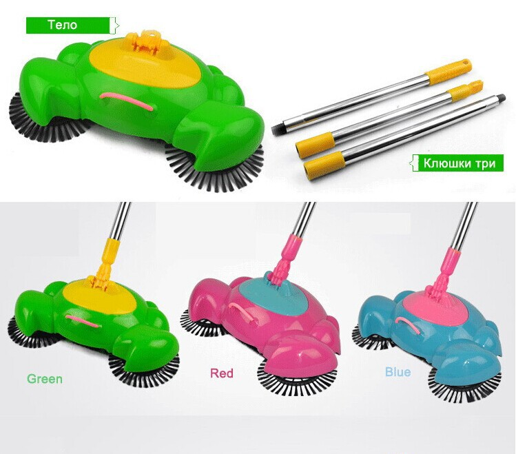 Hot Sale Pushing Sweeper Vacuum Cleaners Household floor cleaner Manually cleaning machine broom Do not bend over no electricity(China (Mainland))